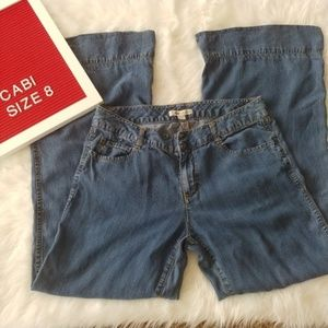 Cabi Wide Leg Altered Denim Pants Size 8